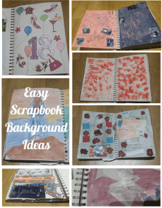 Easy Scrapbook Background Ideas