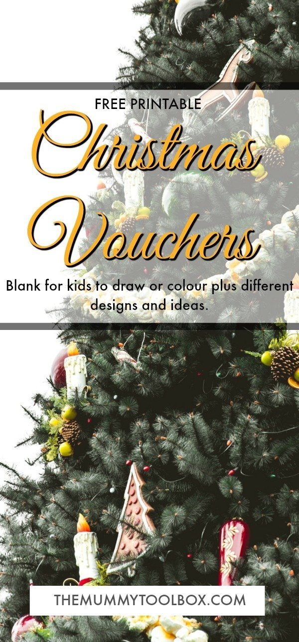 free printable christmas vouchers as an awesome homemade gift ideas. Plenty of ideas for kids and adults for how to use them. Blank colour in or draw vouchers and different designs. #Christmas #Giftideas #freeprintables #freebies #giftvouchers