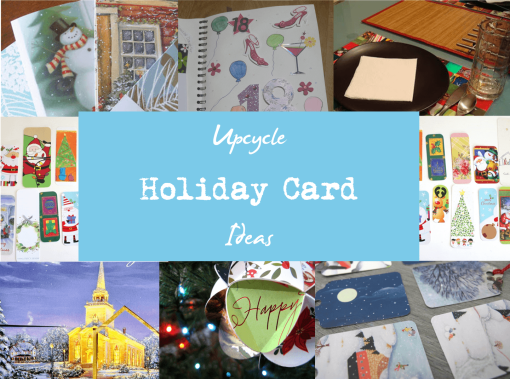 Upcycle Holiday Card Ideas - The Mummy Toolbox