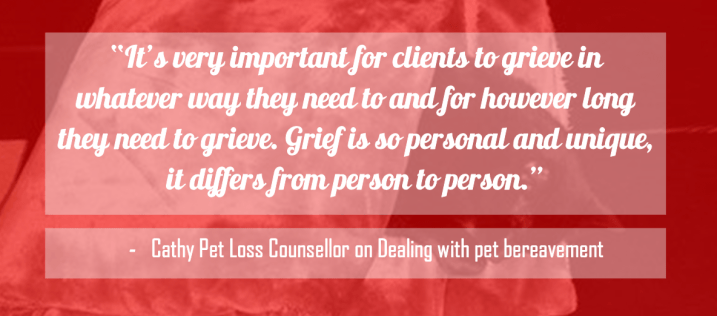 Cathy pet loss counsellor on Pet Bereavement