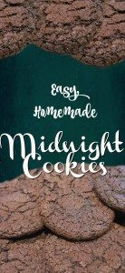 Easy, Homemade Midnight cookies - delicious and full of chocolatey goodness. - perfect for bribery !