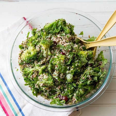 Broccoli Grain Salad by Side Walk Shoes