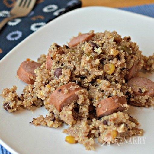 Easy, Turkey Sausage Quinoa by Kenarry