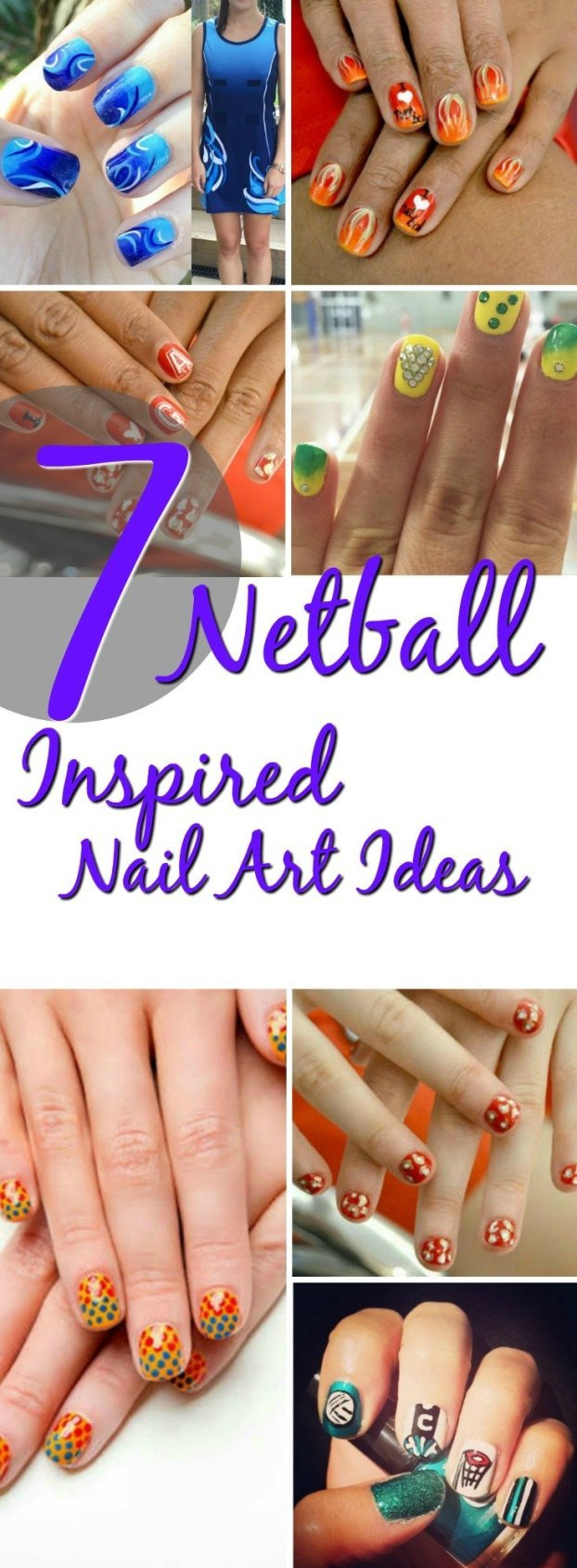 7 netball inspired nail art ideas If you are looking to get your netball fix in other ways here are some awesome netball nail art ideas inspired by the sport and perfect for short nails.