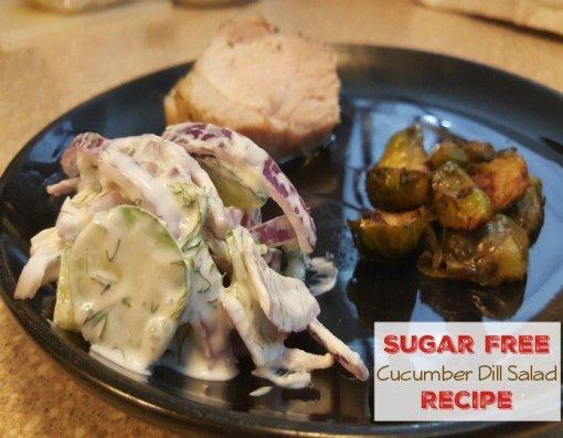 Sugar-Free Cucumber Dill Salad Recipe by My Sugar Free Journey