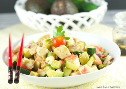 surimi salad recipe by Living Sweet Moments