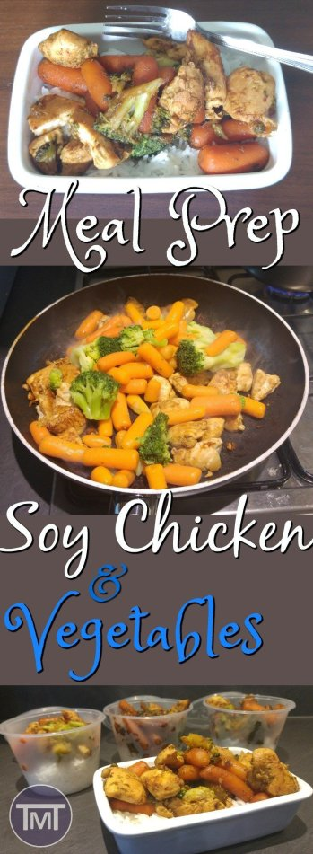Meal Prep Soy Chicken and vegetables - easy, delicious and healthy. lunch or dinner meal that is freezable and suitable for the fridge and ready in under 30 minutes! A great option for newbie meal preppers