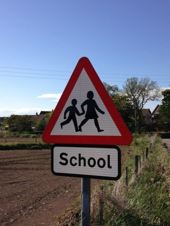 school sign - back to school walking safety