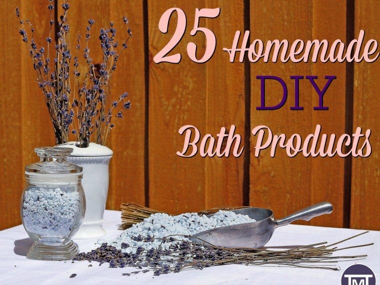 25 DIY homemade bath products