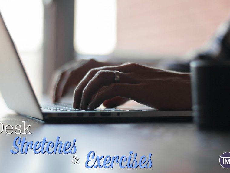 desk stretches and exercises feature image