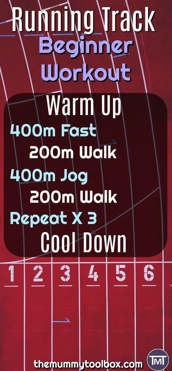 If you're trying to get into running, here is a running track workout that is perfect for beginners with variations to make it easier or harder to suit you.