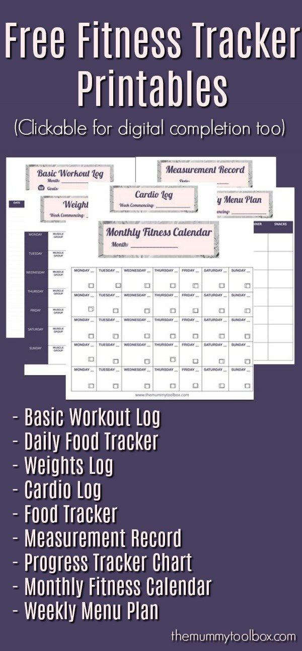 Introducing the free fitness tracker printables that you can use digitally or print them out so that you can achieve all of your health and fitness goals. #fitfam #fitness #fit #exercise #freebies #freeprintables #printables#fitnestracker