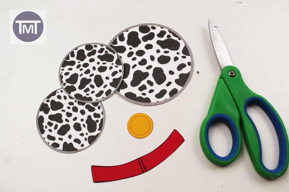 Materials for Dalmatians ornament