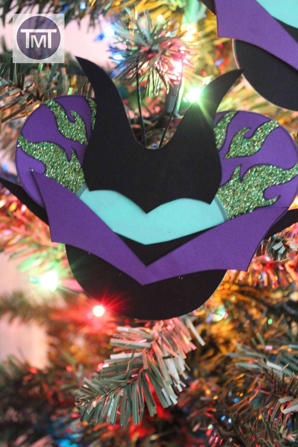 Maleficent Christmas Ornament Finished product