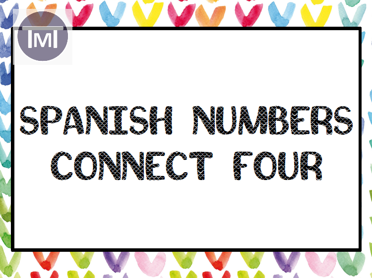 Spanish Numbers Connect Four