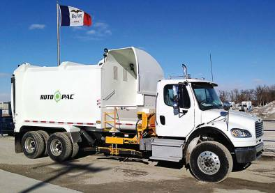 Roto Pac is the first auger-driven organics or municipal solid waste collection truck in the world. It boasts the highest legal payload in the industry: 25,000 pounds. (Photo provided)