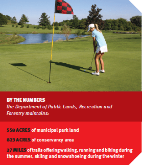 Pleasant View Golf Course offers panoramic views of Lake Mendoza and nearby ice-age terrain, among its other amenities. (Photo courtesy Middleton Tourism Commission)