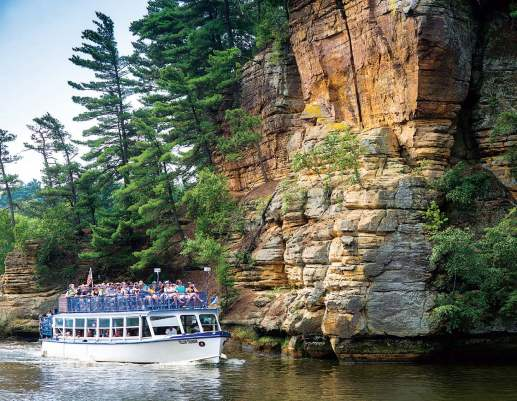 Natural water features that lay in and around Wisconsin Dells augment the man-made water fun to be had in town. (Photo provided)