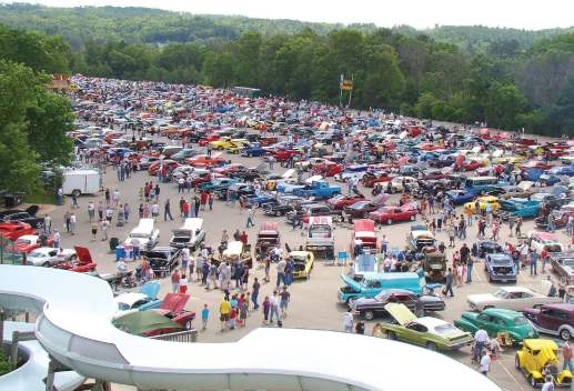 Water parks constitute a large draw to the small town of Wisconsin Dells, Wis. But the city also hosts several popular festivals each year, including the huge Automation car show. (Photo provided)