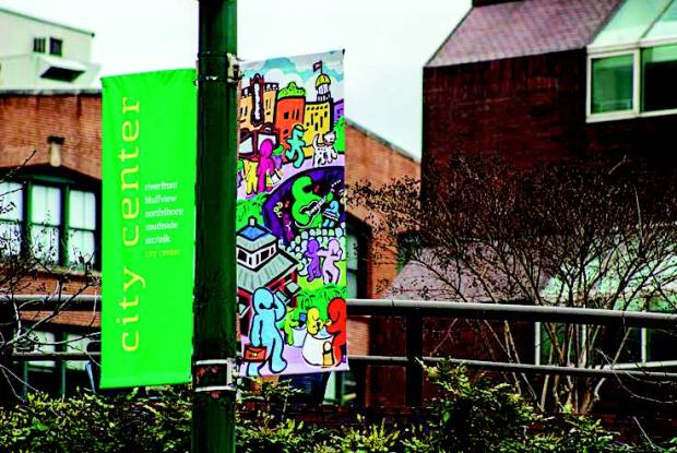 Chattanooga city banners carry the ChaType identifier, as does the library snack shop, Circulation & Percolation.