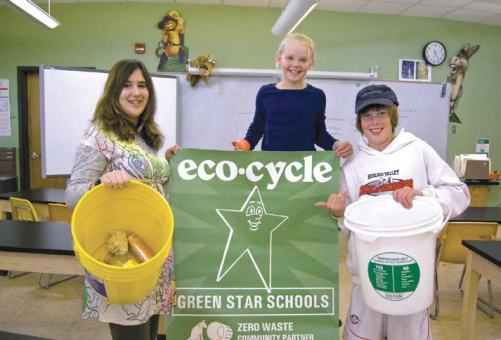 "Eco Cycle Solutions initiated a Green Stars School program, in which more than 40 schools are recycling and composting more than two-thirds of their waste. The initiative also teaches children to reduce waste, through innovative programs such as a Waste-Free Lunch contest and ""Locker Left overs."" (Photo provided)"