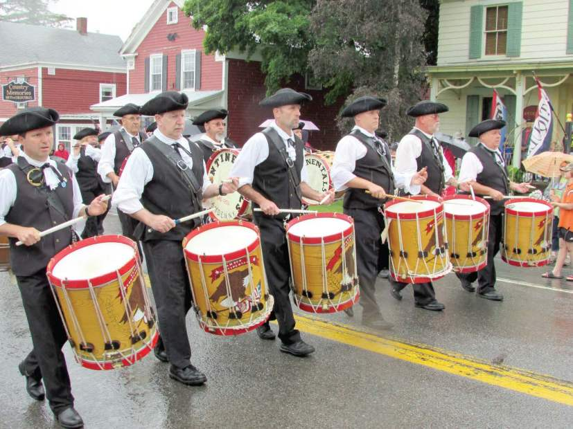 The Camden Continentals Fife and Drum Corps set the pace and ring a historical note at the annual Springfi eld Fourth of July parade. (