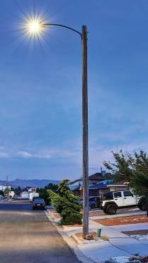 lit light pole