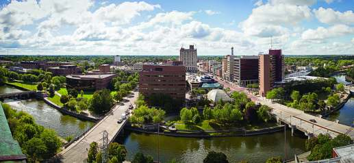 The UM-Flint campus has expanded its footprint in recent years, positioning itself as a catalyst for change in downtown Flint. (Photo provided)