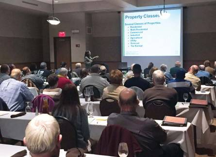 MLA participants receive a crash course in property classes and tax increment financing. Newly elected city officials not only glean useful information, but make invaluable connections with other officials at MLA sessions. (Photo provided)