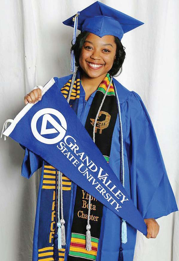 A Grand Valley State University graduate and Kalamazoo Promise recipient. (Photo provided)