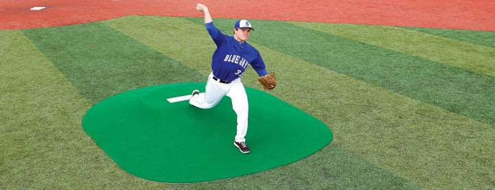 True Pitch offers a product line of 10 portable game and practice mounds, including the True Pitch 600G Mound. (Photo provided)