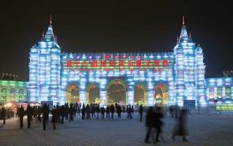 "Cities can take a lot away from their sister cities relationships. Minneapolis, Minn., hopes to adapt lessons learned from its sister city Harbin, also called the ""City of Ice,"" in China on winter tourism. Pictured is the Harbin Ice Festival, which attracts more than 10 million visitors each year. (TonyV3112/Shutterstock.com)"