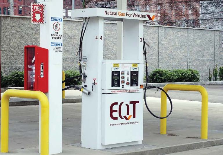 CNG is safer when fueling than gasoline or diesel since it uses a closed system, meaning no fumes are emanating from the gas tank. (Photo provided by National Alternative Fuels Training Consortium)