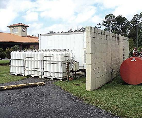 Pictured are tanks at the city of Milton, Fla.'s CNG station. (Photo provided by city of Milton)