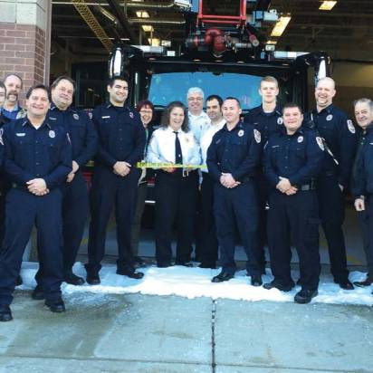 The Inver Grove Heights Fire Department in Minnesota celebrates its first day of Duty Crew, a program launched to help retain volunteer firefighters. (Photo provided)