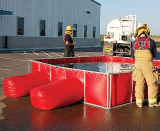 Husky Portable Containment's PRO500® tank undergoes testing to ensure the product meets quality standards. The quality control team is constantly evolving to suit the needs of customers while maintaining the highest levels of quality. (Photo provided)