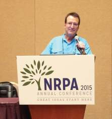 Richard Singer spoke at the 2014 NRPA conference in regards to increasing the profitability of municipal golf courses. (Photo provided by Richard Singer)