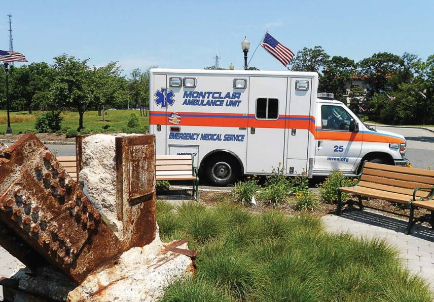 Montclair Ambulance Unit at the Essex County, N.J., 9/11 Memorial. The basic life support ambulance service has 41 members. (Photo provided)