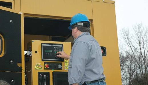 As part of routine testing, Hinckley Wastewater Treatment Plant personnel will run the genset under no load once a week for at least an hour. Once a month, staff transfers the generator load to run the plant anywhere from one to four hours. (Photo provided)