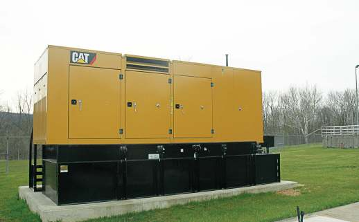 Hinckley Wastewater Treatment Plant in Ohio utilized a cooperative contract through the National Joint Powers Alliance to secure a 600 kW Cat generator. The genset came in handy during a power outage (Photo provided)