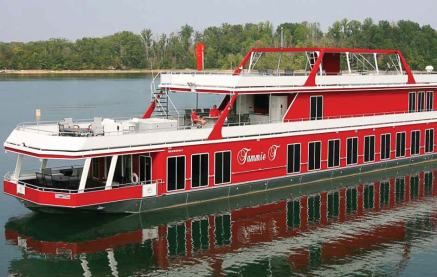 "Hundreds of houseboats, such as the 124-foot ""Tammie T,"" descend on Lake Cumberland for the annual National On Water Houseboat Expo. (Photo provided)"