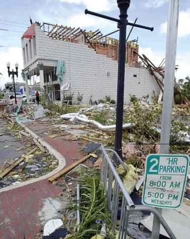 Pictured is Marion Avenue and a glimpse of the damage left behind by Hurricane Charley. (Photo provided by Punta Gorda)