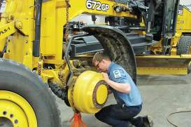 Employees at Dakota County Fleet Management are provided with all the tools they'll need for their position as well as uniforms, safety jackets and outerwear for jobs — something that is usually an additional cost, particularly in private sector fleet management positions. (Photo provided by Dakota County Fleet Management)