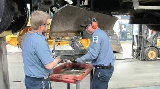 Municipal fleets provide the opportunity for technicians to work on a variety of equipment, which can be an incentive for younger technicians to consider the public sector of fleets. (Photo provided by Dakota County Fleet Management)