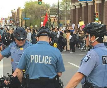 Members of the Minneapolis BRRT, or Bicycle Rapid Response