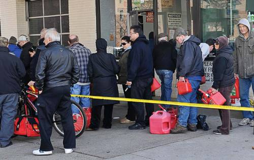 Fuel was a scarcity following Hurricane Sandy, with James Korotki stressing the importance of having a fuel playbook that covers who decides who gets what in addition to what security protocols will be in place. (Shutterstock.com)
