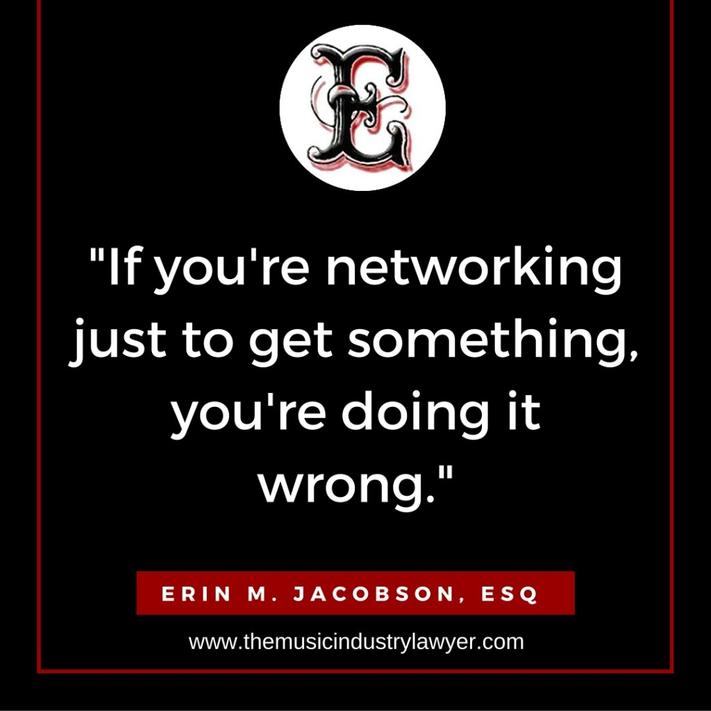 Erin Jacobson music lawyer music attorney networking