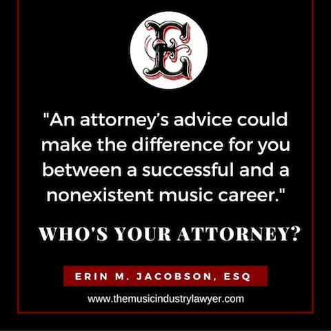 Erin Jacobson music attorney music industry lawyer