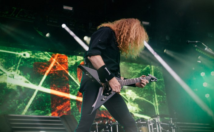 Dave Mustaine of Megadeth plays a live set at Rock on the Range 2016.