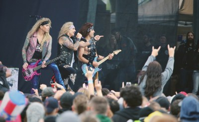 Steel Panther performs live at Rock on the Range 2016 Day 2